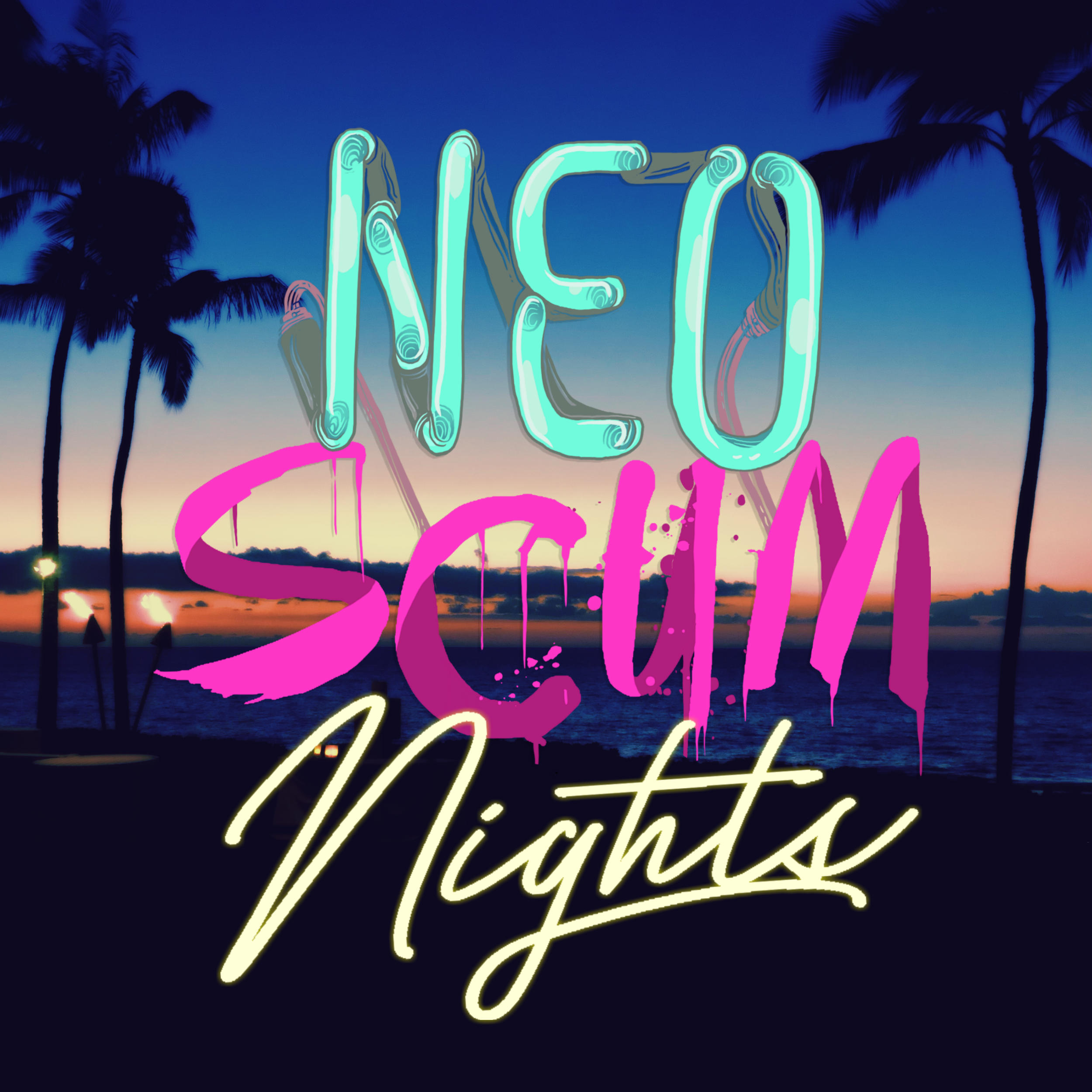 NeoScum Nights Logo By Casey Toney and  Will kirkby