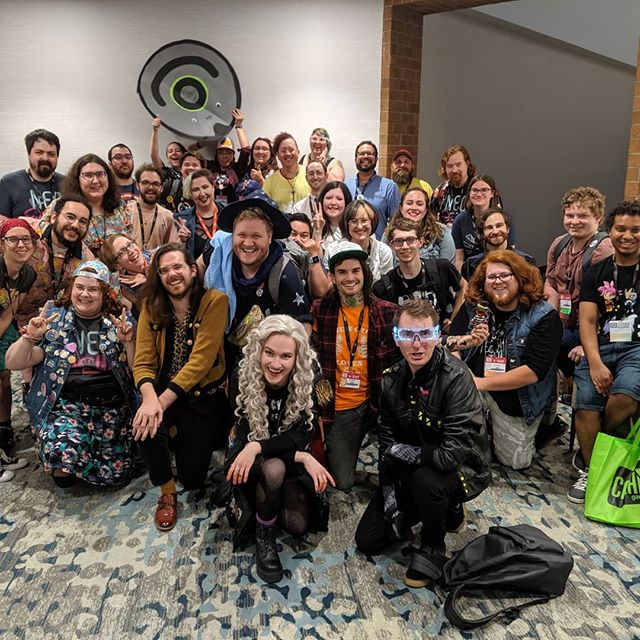 Gen Con 2019! The NeoScum live show, meetup, and @hellofromthemagictavern live show were some of our favorite events of the weekend. The best, best part was feeling the love, laughs, and support we get from the scummer community, and the same you extend to each other 💕 . . . . . . . . . . . . . . . . . . . #neoscum #shadowrun #cyberpunk #gencon #comedy #chicagoimprov #podcast #gencon2019 #chunt #hellofromthemagictavern #techwizard #zenith #dakrambo #pox #roleplaying #gamer #game #scummer