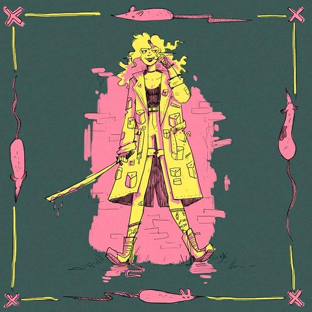 🐀🗡️🍭POX✨☠️🌸 By: @kajakpx . . . . . . . . . . . . . . . . . . . . . #neoscum #shadowrun #cyberpunk #rpg #comedy #chicagoimprov #podcast #actualplaypodcast #comedypodcast #techwizard #zenith #dakrambo #pox #roleplaying #gamer #game #fanart #art #characterart #listen #scummer #shadowrunner #trucker #hacker #decker #wizard #elf #gm #gamemaster
