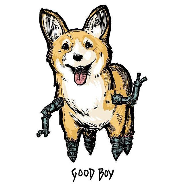 Celebrating @jonahformayor's bday with Good Boy! We love Good Boy and we LOVE JONAH!!!! HAPPY BIRTHDAY!!!!! By: @mr.alexmitchell . . . . . . . . . . . . . . . . . #neoscum #shadowrun #cyberpunk #rpg #comedy #chicagoimprov #podcast #actualplaypodcast #comedypodcast #techwizard #zenith #dakrambo #pox #roleplaying #gamer #game #fanart #art #characterart #listen #scummer #shadowrunner #trucker #hacker #decker #wizard #elf #gm #gamemaster