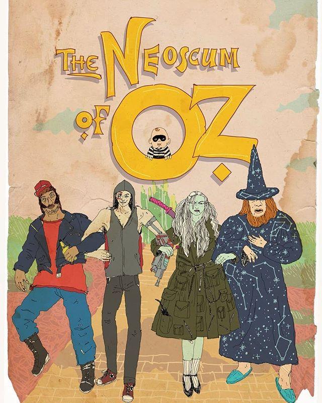 Thinkin about the NeoScum at Halloween... Plus baby hamburglar.... 🏡🌈👠💚 By: @ayarosen . . . . . . . . . . . . . . . #neoscum #shadowrun #cyberpunk #rpg #comedy #chicagoimprov #podcast #actualplaypodcast #comedypodcast #techwizard #zenith #dakrambo #pox #roleplaying #gamer #game #fanart #art #characterart #listen #scummer #shadowrunner #trucker #hacker #decker #wizard #elf #rainbow #oz