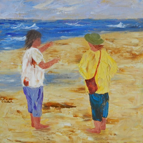 Beach Conversation  | Oil |  $240