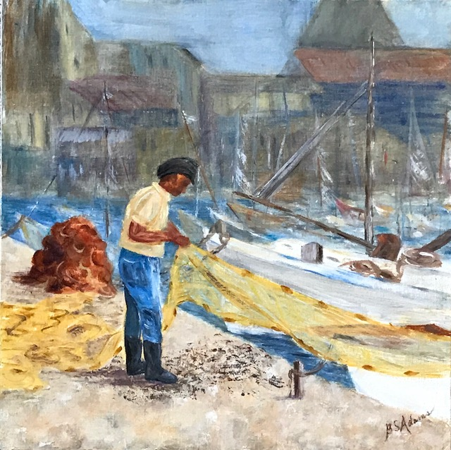 Cleaning his Nets  | Oil |  $390