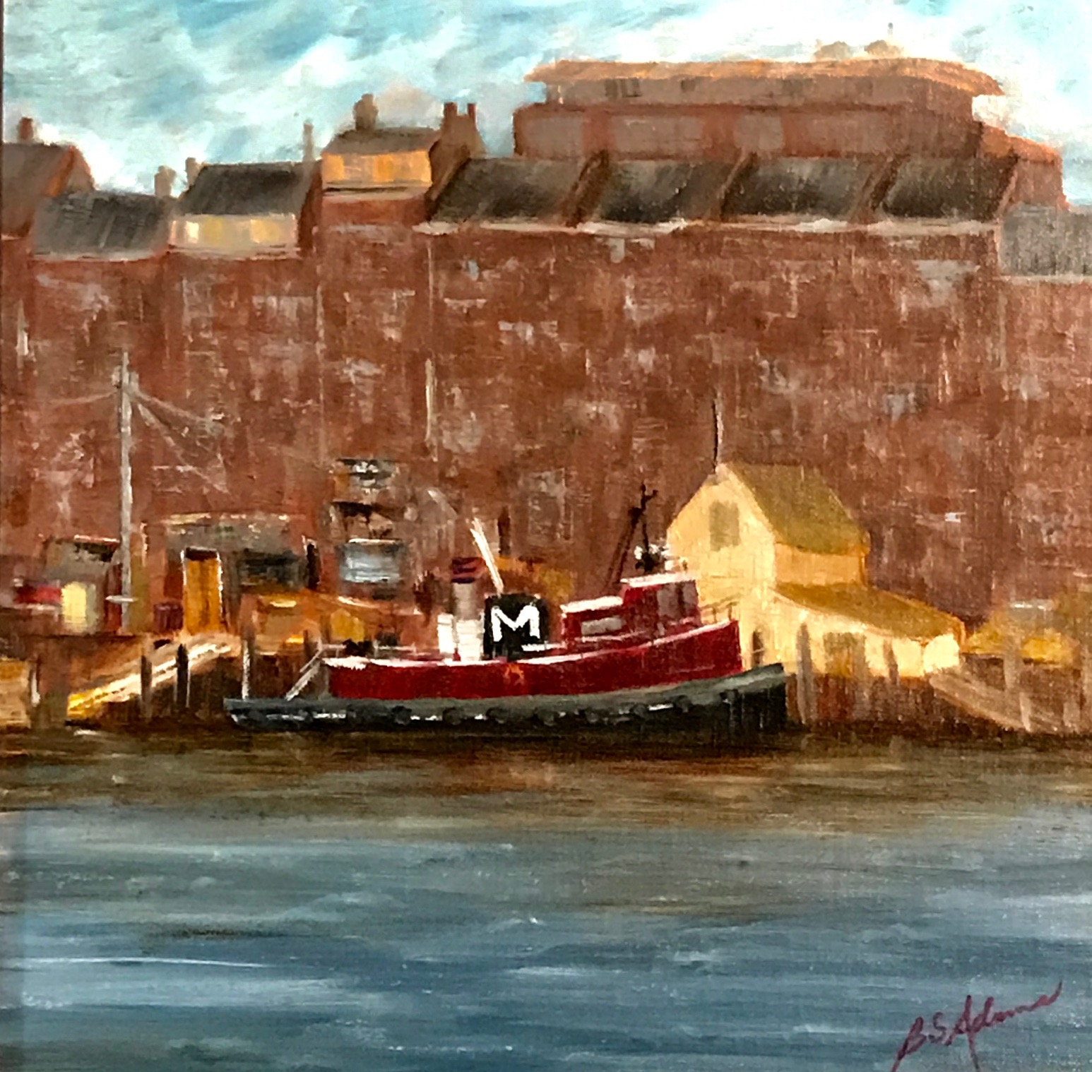 Portsmouth Waterfront  | Oil |  $350