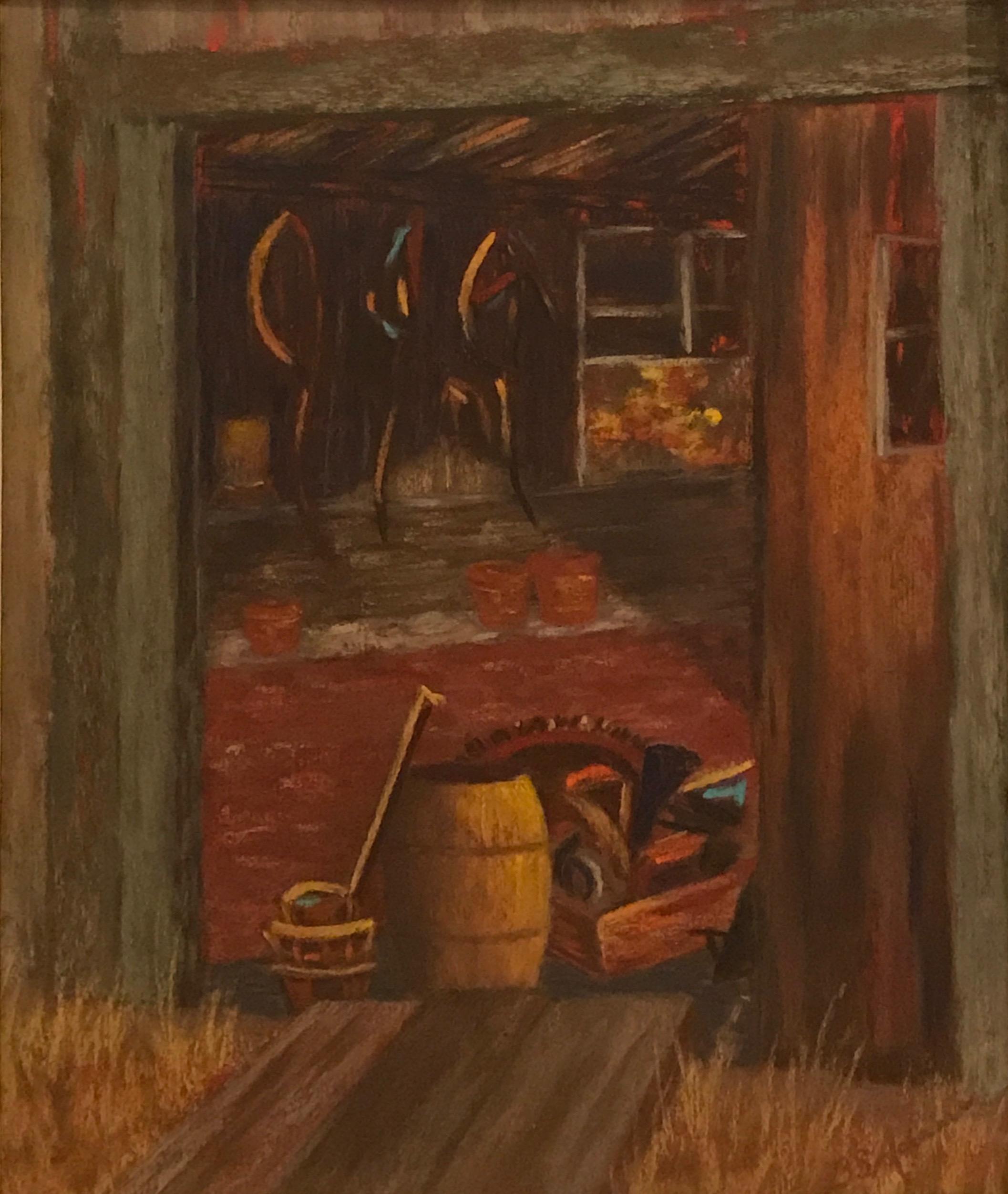 Barn Flotsam  | Pastel |  $350