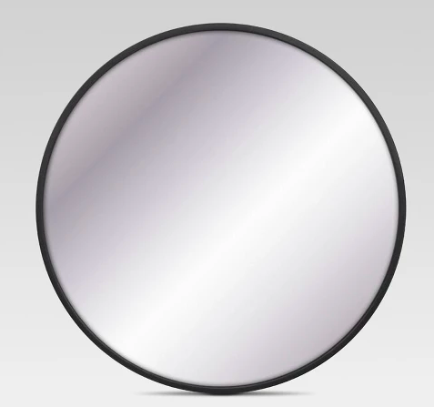 Decorative Round Mirror - I've been really loving the look of these simple round mirrors, and I want one for my entrance way. This one is perfect with the black trim!Buy here.