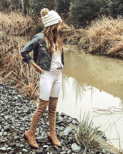 jacket  //  tee  //  jeans  //  OTK boots