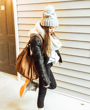 beanie (sale!)  //  leather jacket  //  duck boots  - use code: BIG (other pair  here- use code: BRADSDEALS20)  //