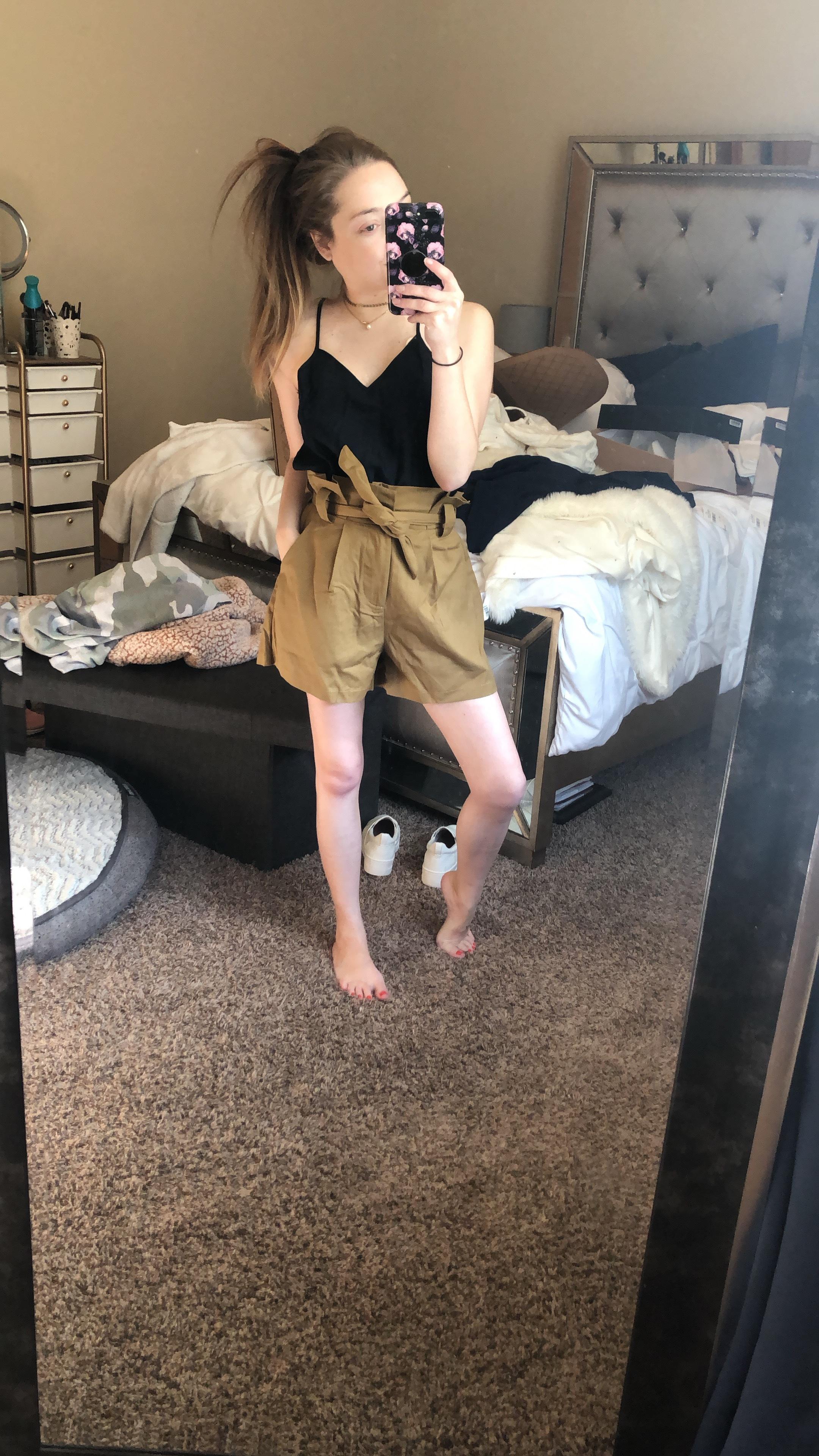 tank  //  paperbag shorts