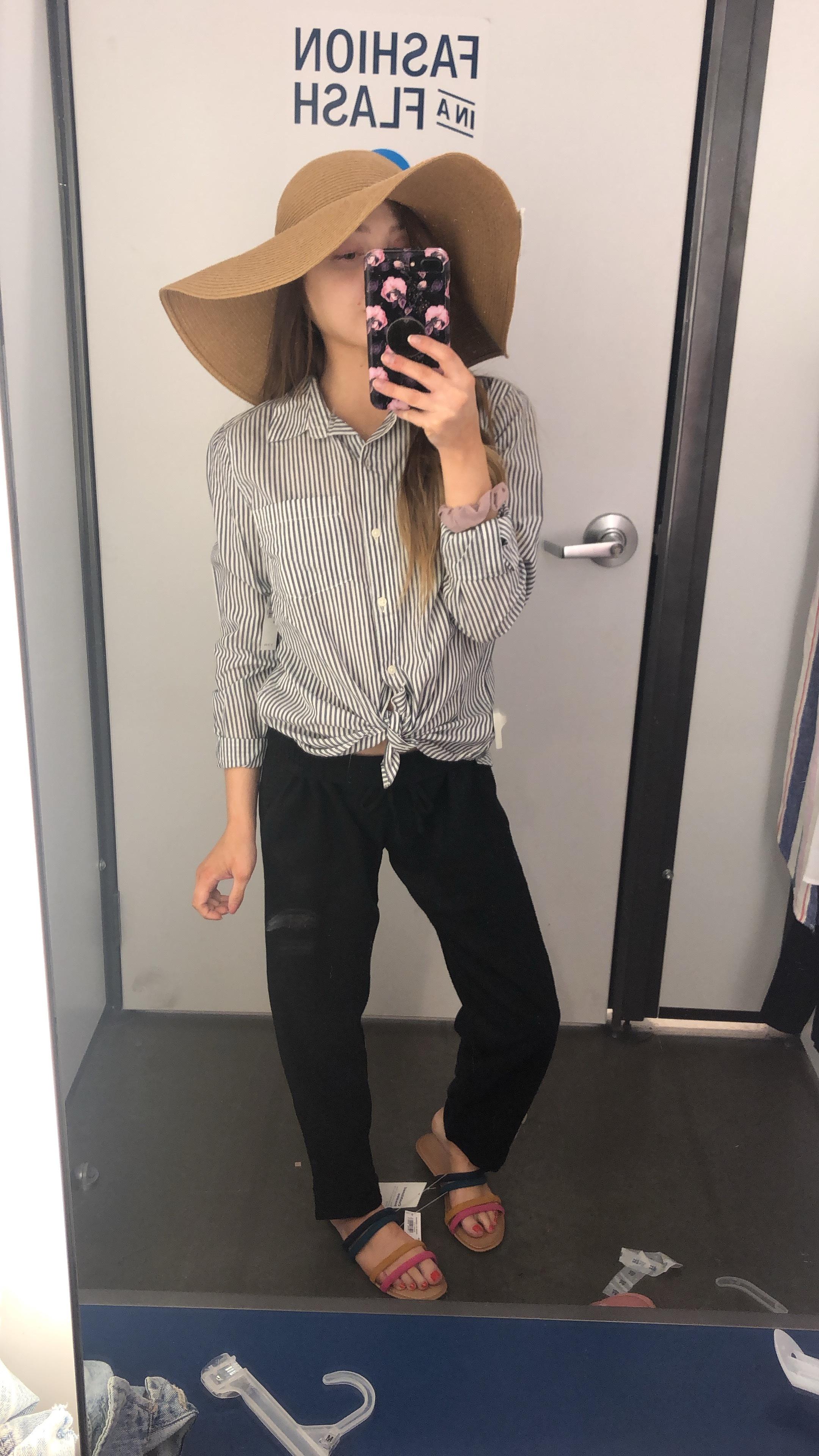 pants  //  shirt  //  hat  //  sandals