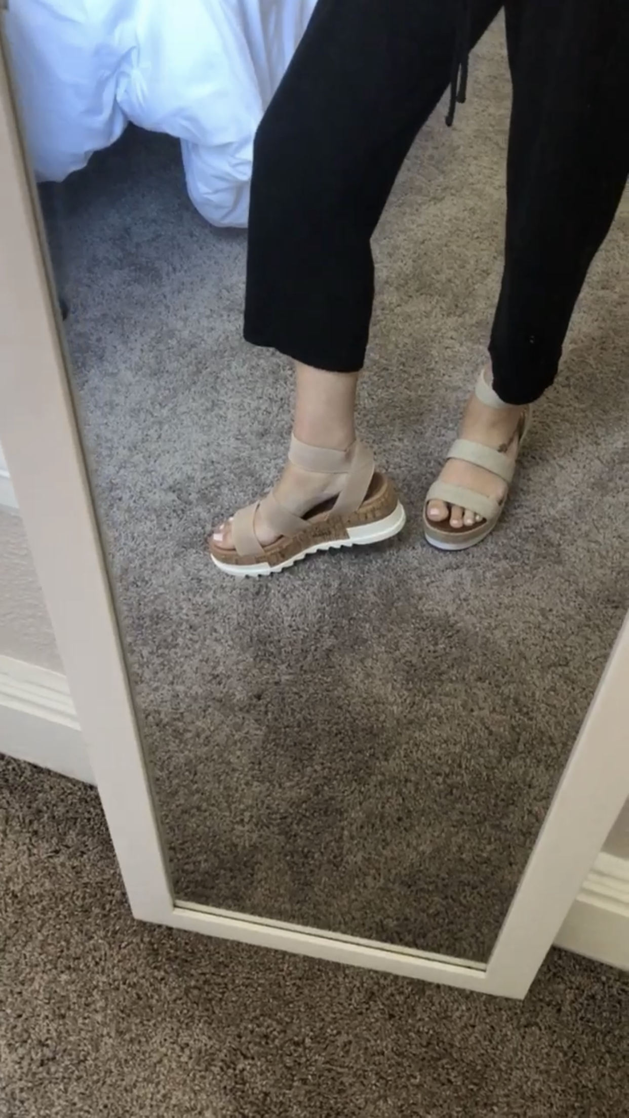 most comfortable platform sandals