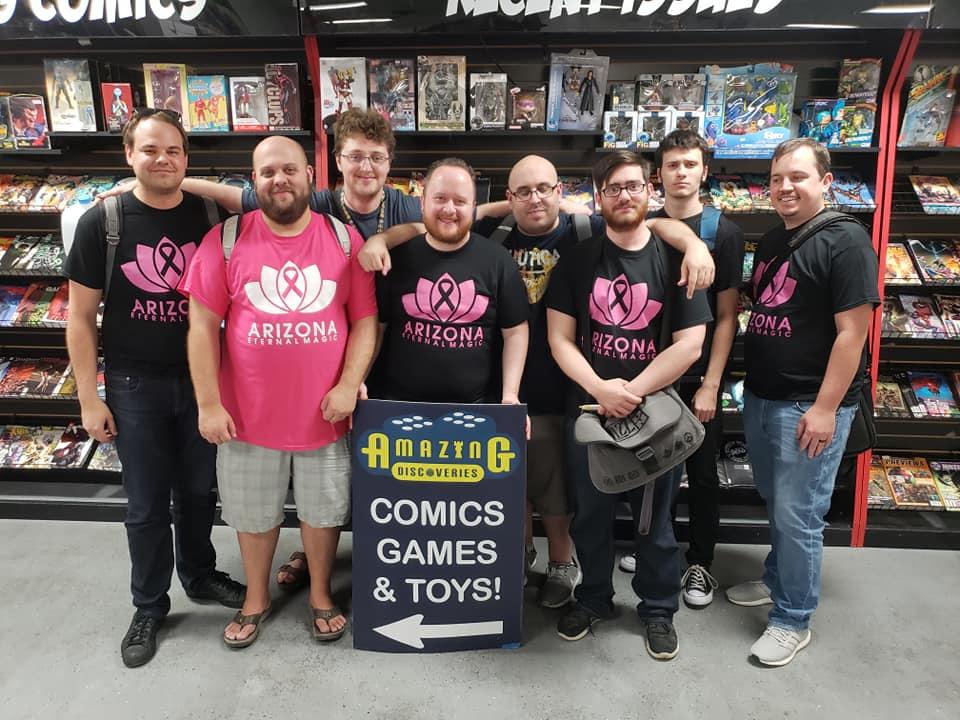 (Left to right) David Szatkowski, Anthony Hair, Zachary Klaus, Devin Jones, Jim Chianese, David Roqueni, Christian Fannon, and Chris Ross.
