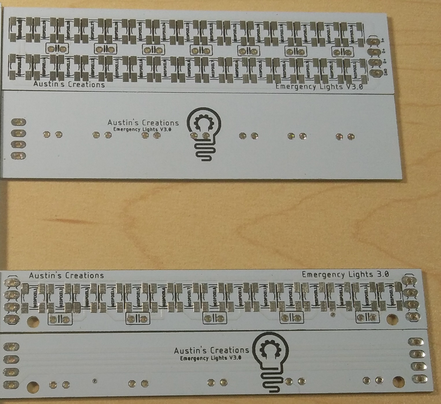 Blank PCB's before part population