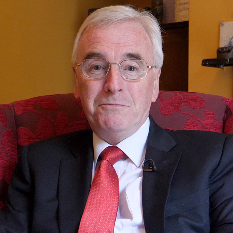 John McDonnell MP - Shadow Chancellor of the Exchequer and Labour MP for Hayes & Harlington. Once grabbed a mace