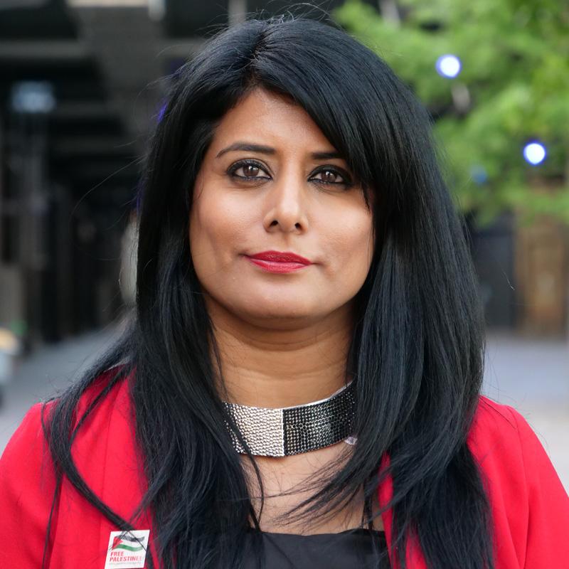 Maz Saleem - Anti-racist campaigner. Daughter of Mohammed Saleem, murdered by a far-right terrorist