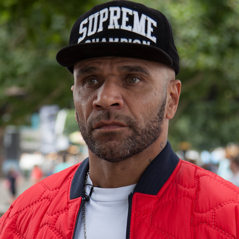 Goldie - Legendary Drum & Bass producer and graffiti pioneer. Maverick AF and loves a bit of Yoga