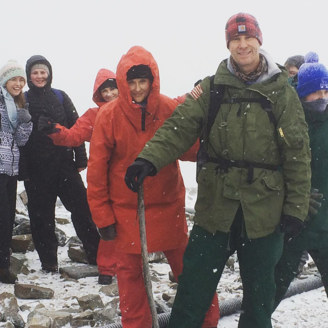 Cliff and Christie Graham having youth camp in the snow