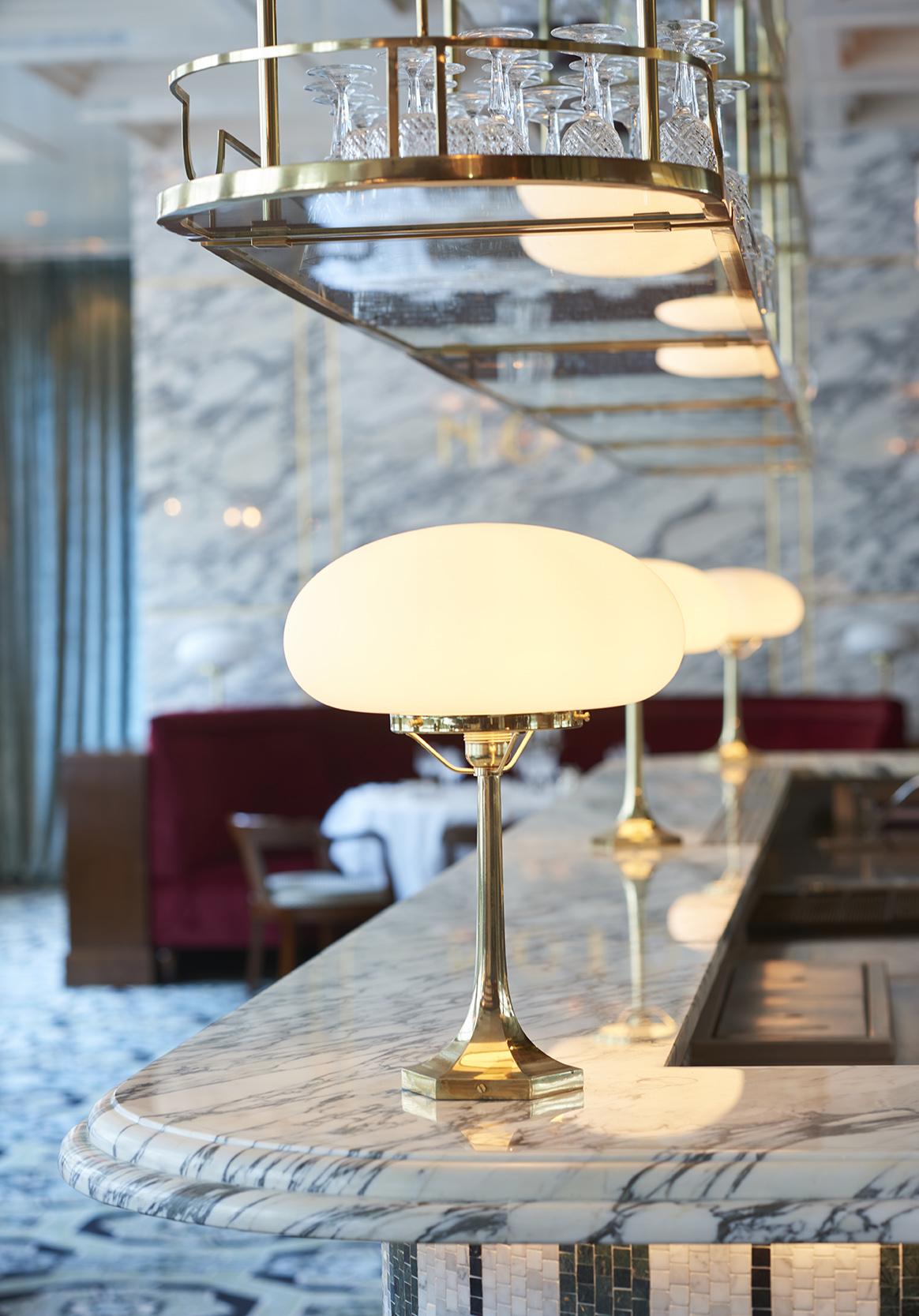 piste Bar Marbre arabescato moulure Restaurant Noto Salle Pleyel Omni Marbres