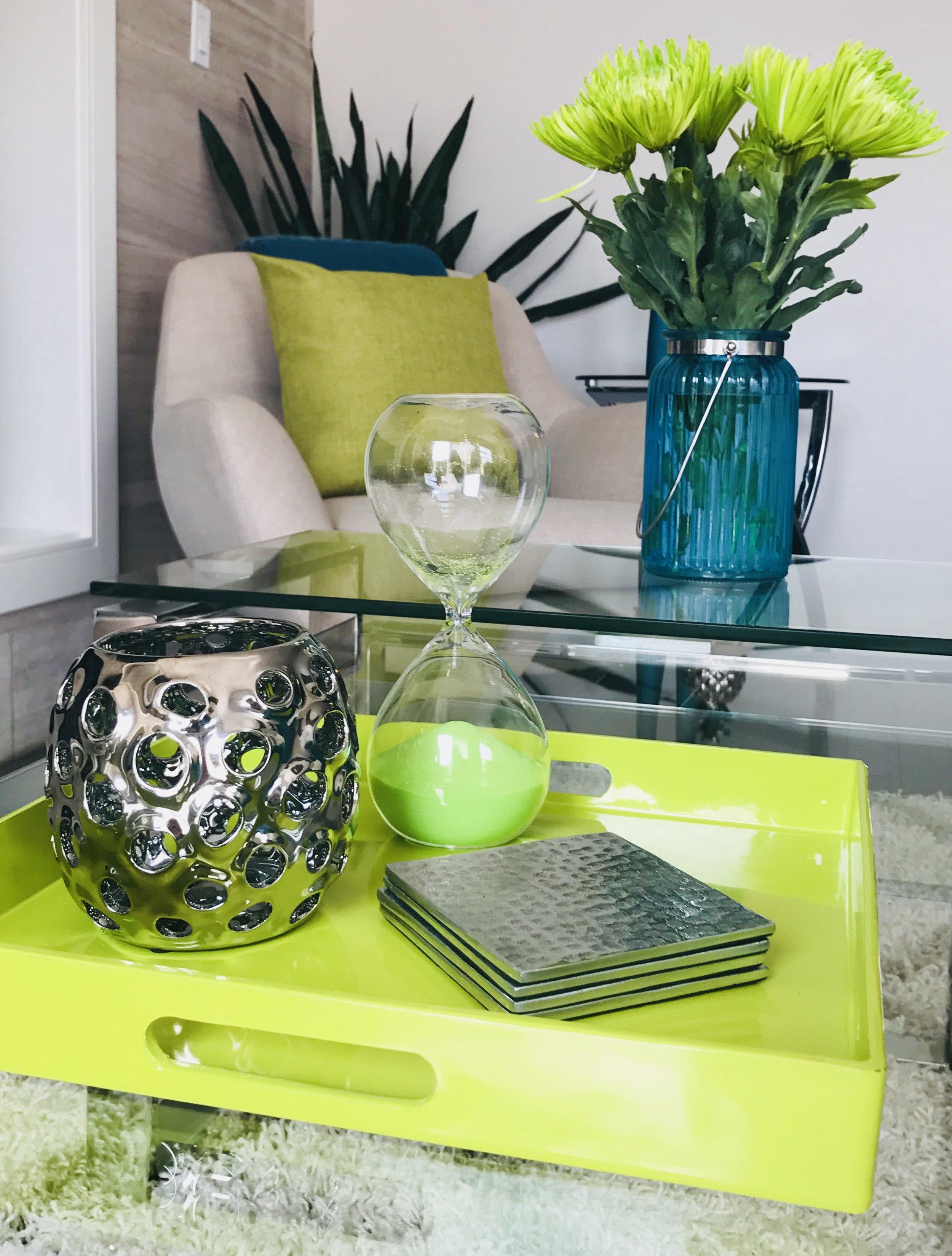 Modern-Minimal-Living Room Design-Coffee Table Styling-Style Maven Decor-Edmonton Canada