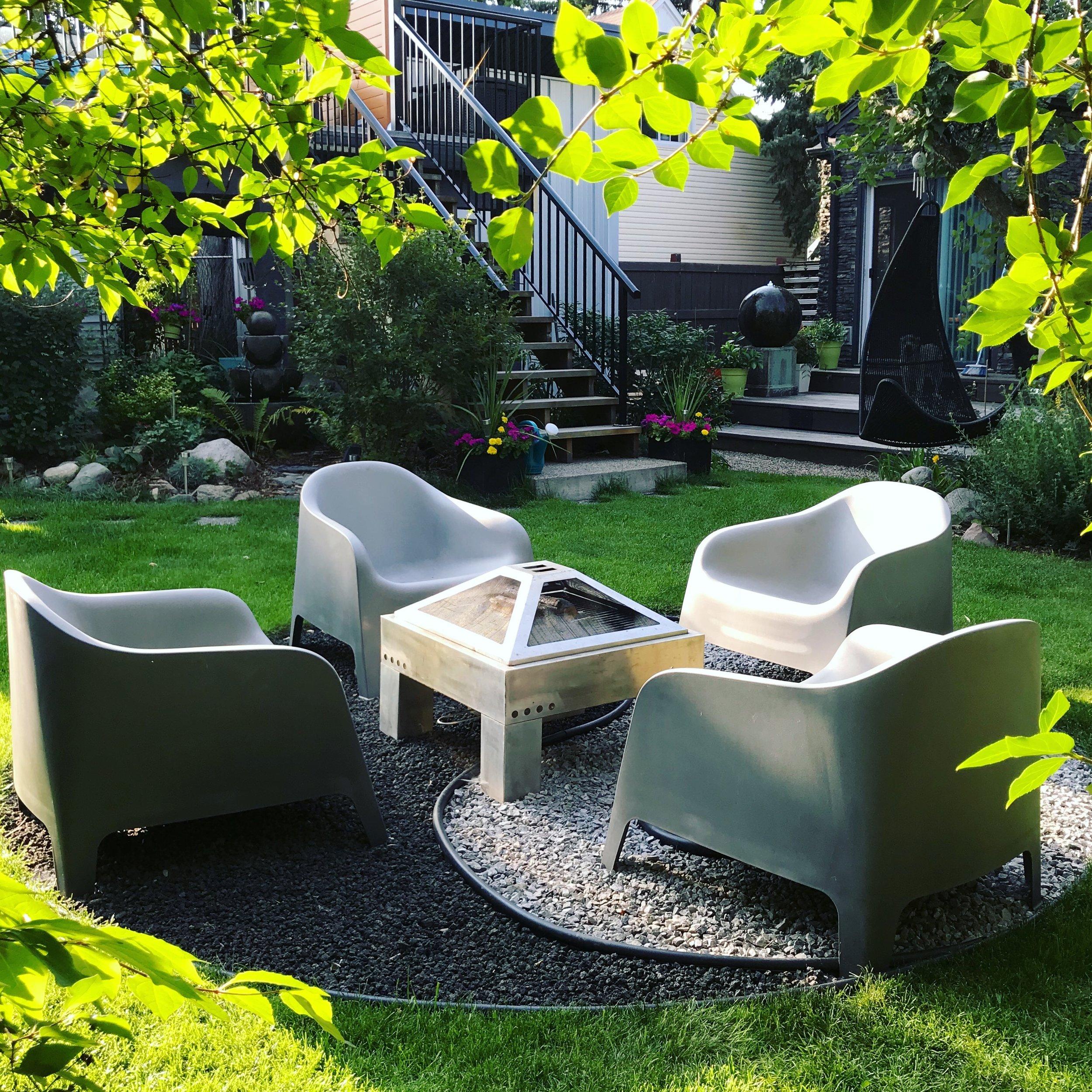 Yin Yang Fire Pit-Patio Furniture-Landscape Design-Style Maven Decor Interior Design-Edmonton Canada