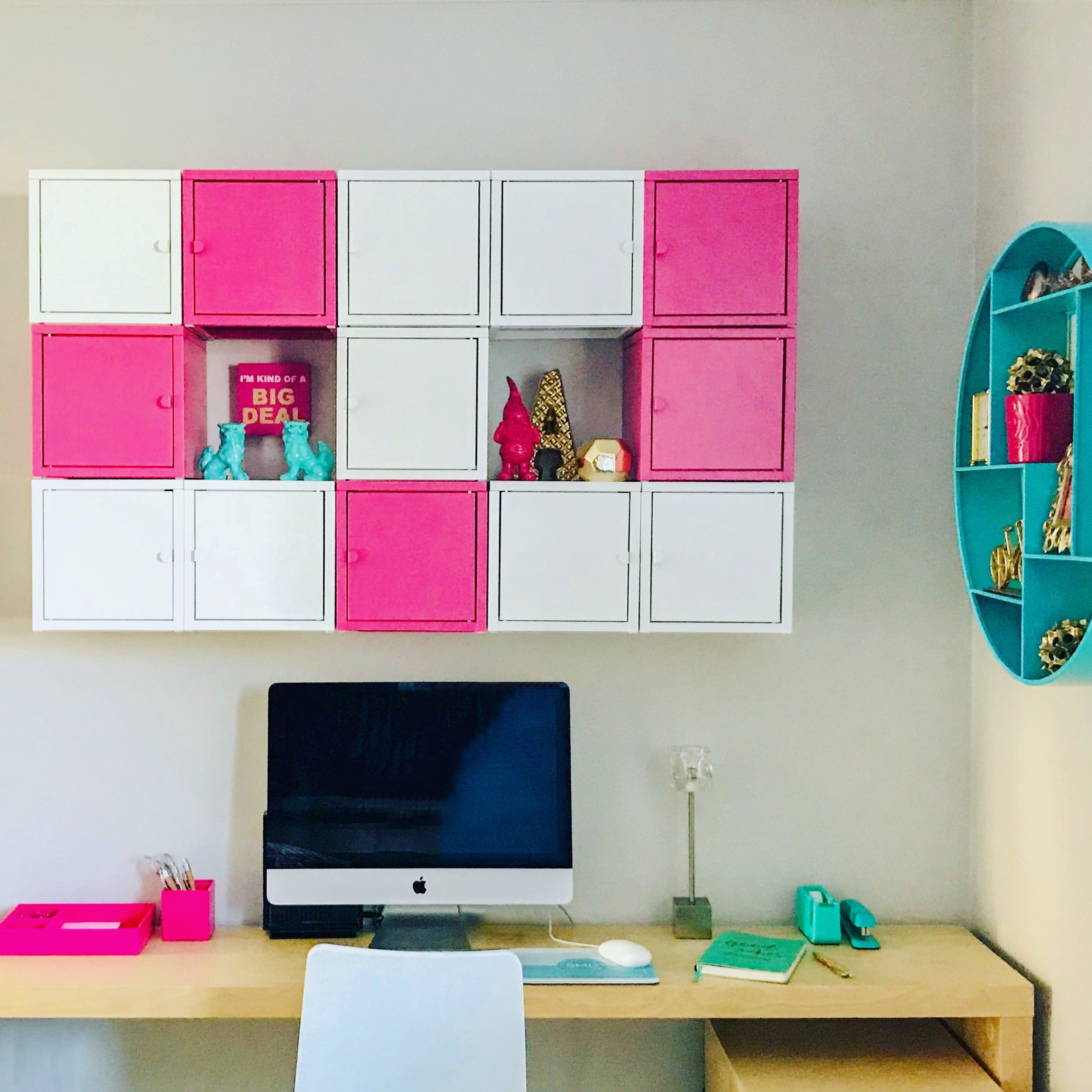 Style Maven Decor-Interior Design-Edmonton-Home Office-Organization-Tetris Wall-Office Storage