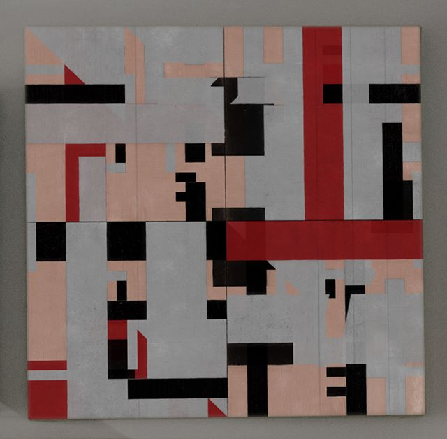 Blight In Jostle Front .019  #art #nzartist #abstractart #abstractpainting #etchings #printmaking #collage #newzealandart #design #artwork #painting #runny #pattern #grid #graffiti #graffitiart #geometric #drawing #mask #graphic #newzealand #nzgallery  #printmaker #woodcut #letterpress #monoprinting #prints #abstractmag #abstractartorg #abstractart_daily