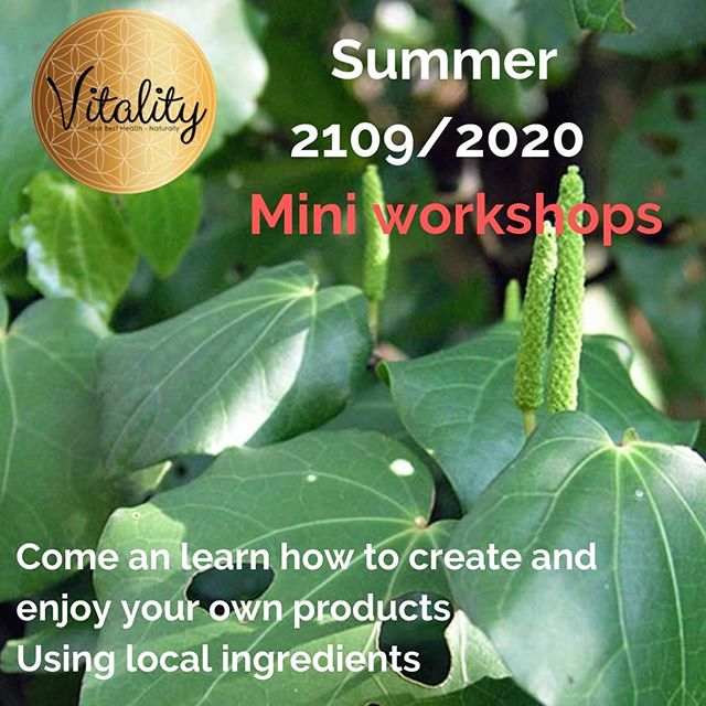 Getting ready for the summer season here in Paihia- bay of islands NZ After the amazing local feedback for our workshops we are going to be offering them on a more regular basis  #vitalityhealth  #vitalitypaihia  #herbalknowledgeispowerful  #nzherbs  #face&body