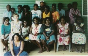 Ngukurr School teachers 1989. Photo source: St Mathews Anglican Church, Ngukurr