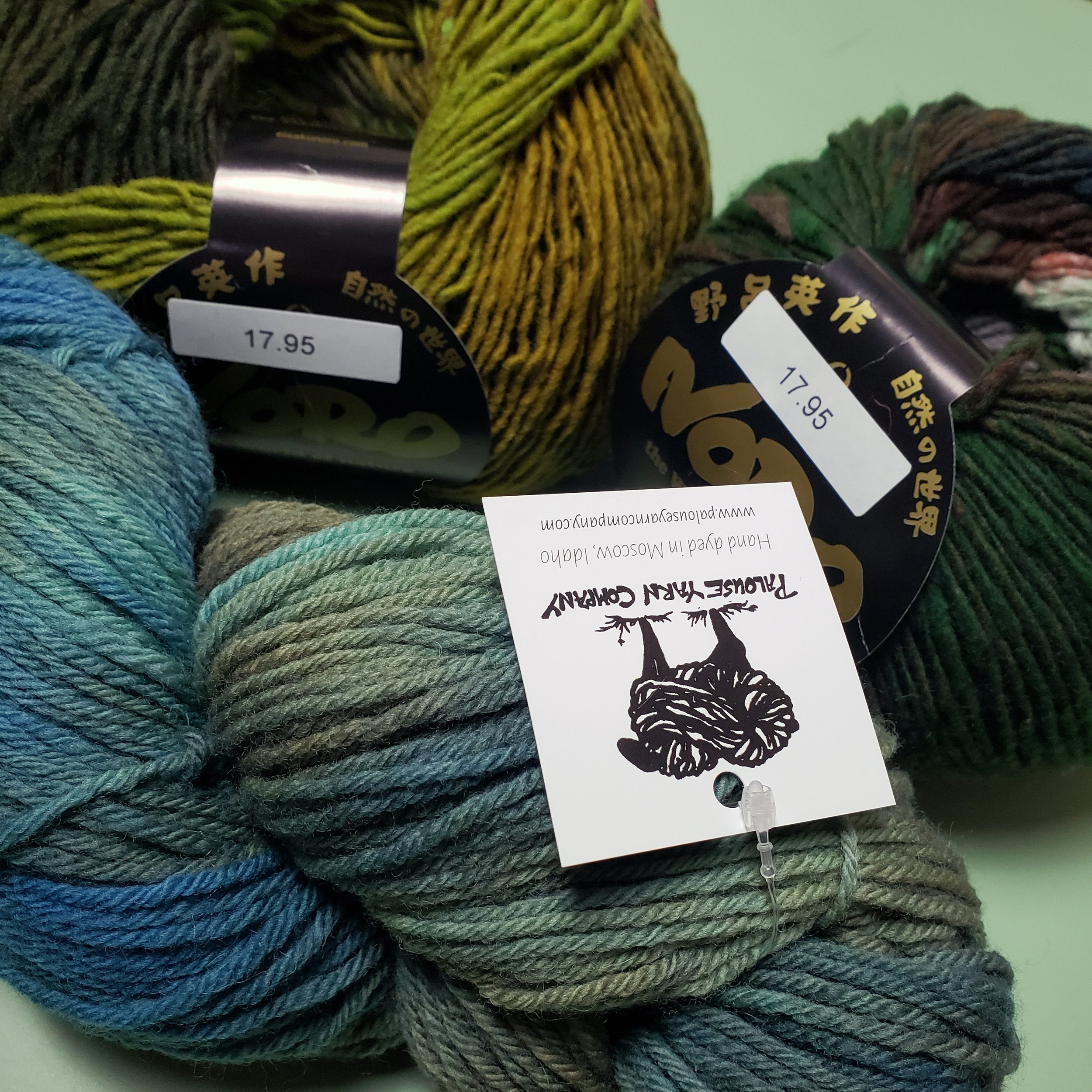 New yarn from Palouse Yarn Company and Noro.