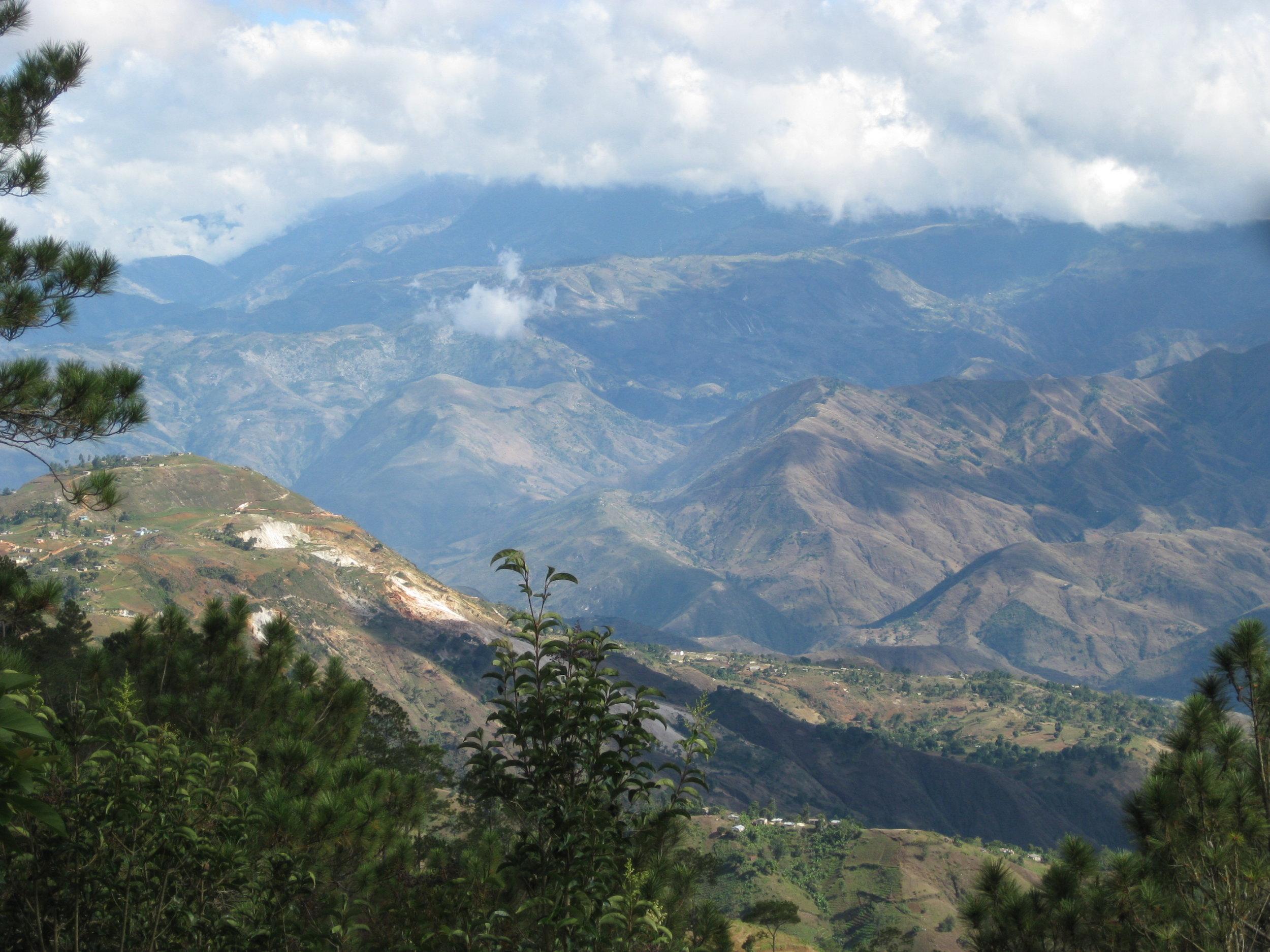 Mountains near the earthquake epidcenter outside of Port au Prince, Haiti.