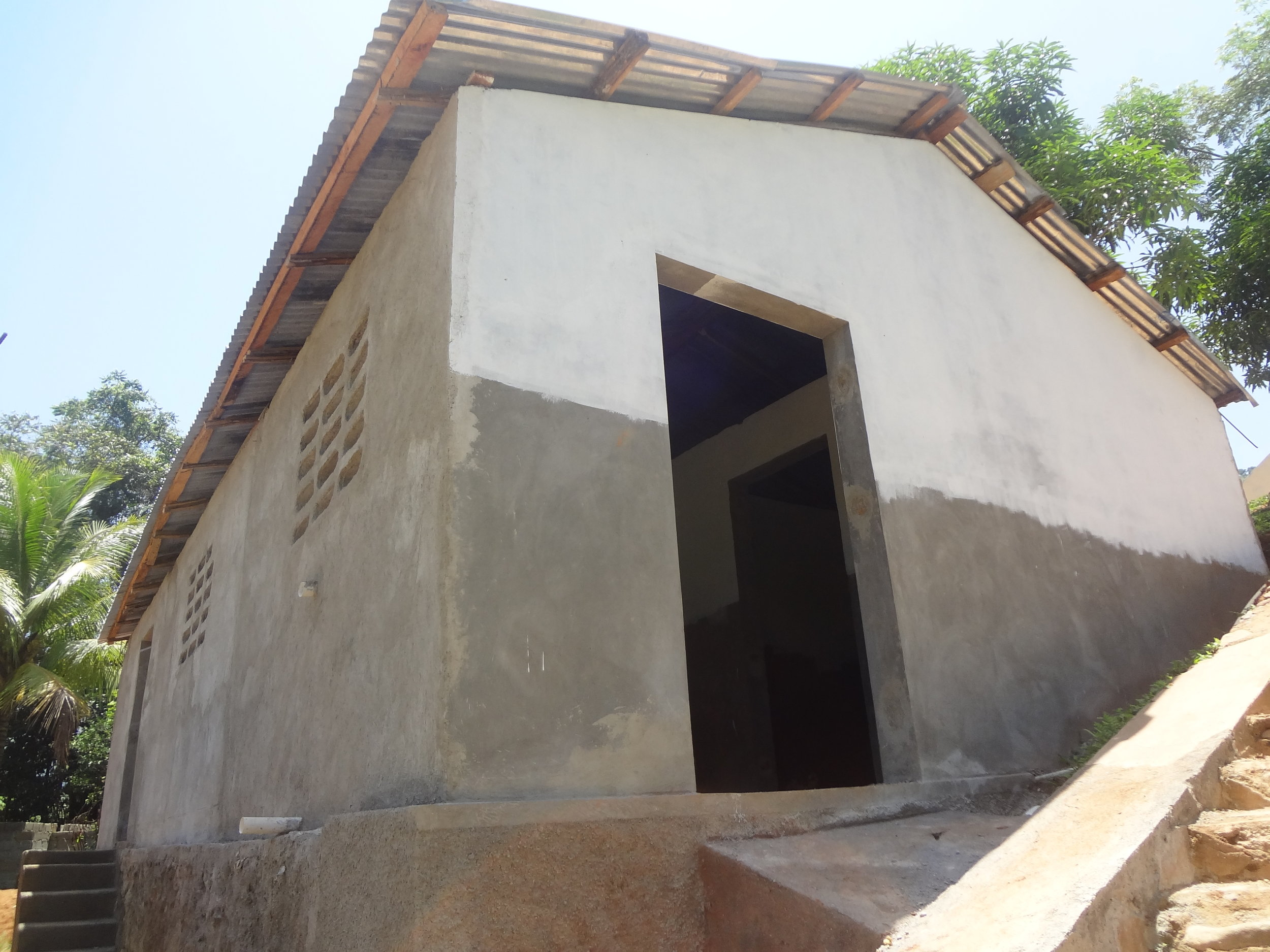 The permanent health facility that GROW constructed at La Soufriere in collaboration with the Haitian Ministry of Public Health and Population.