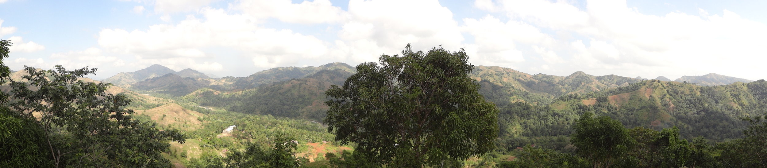 Mountains around the health center near Soufriere.