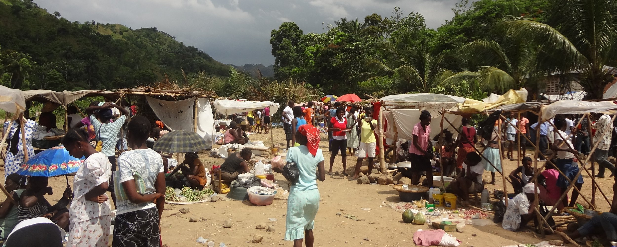 The marketplace at La Soufriere.