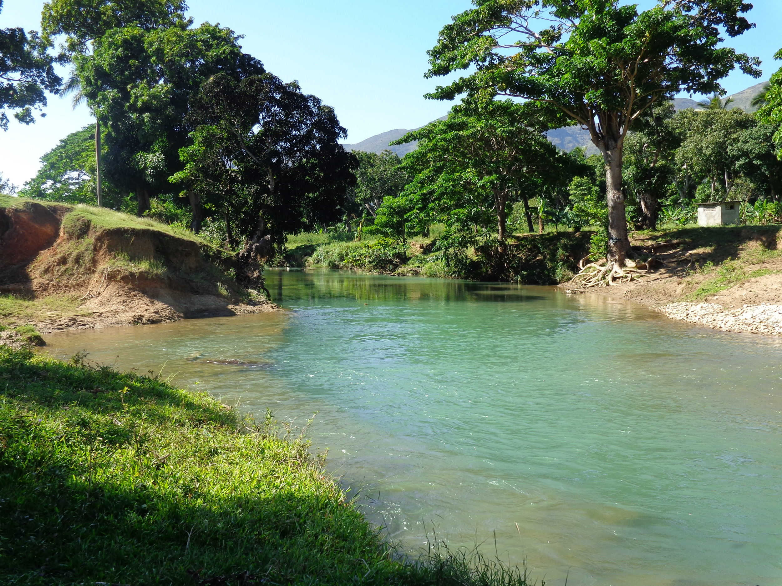 The river at St. Rafael, Haiti, which provides the main source of water for agricultural activities in the region.