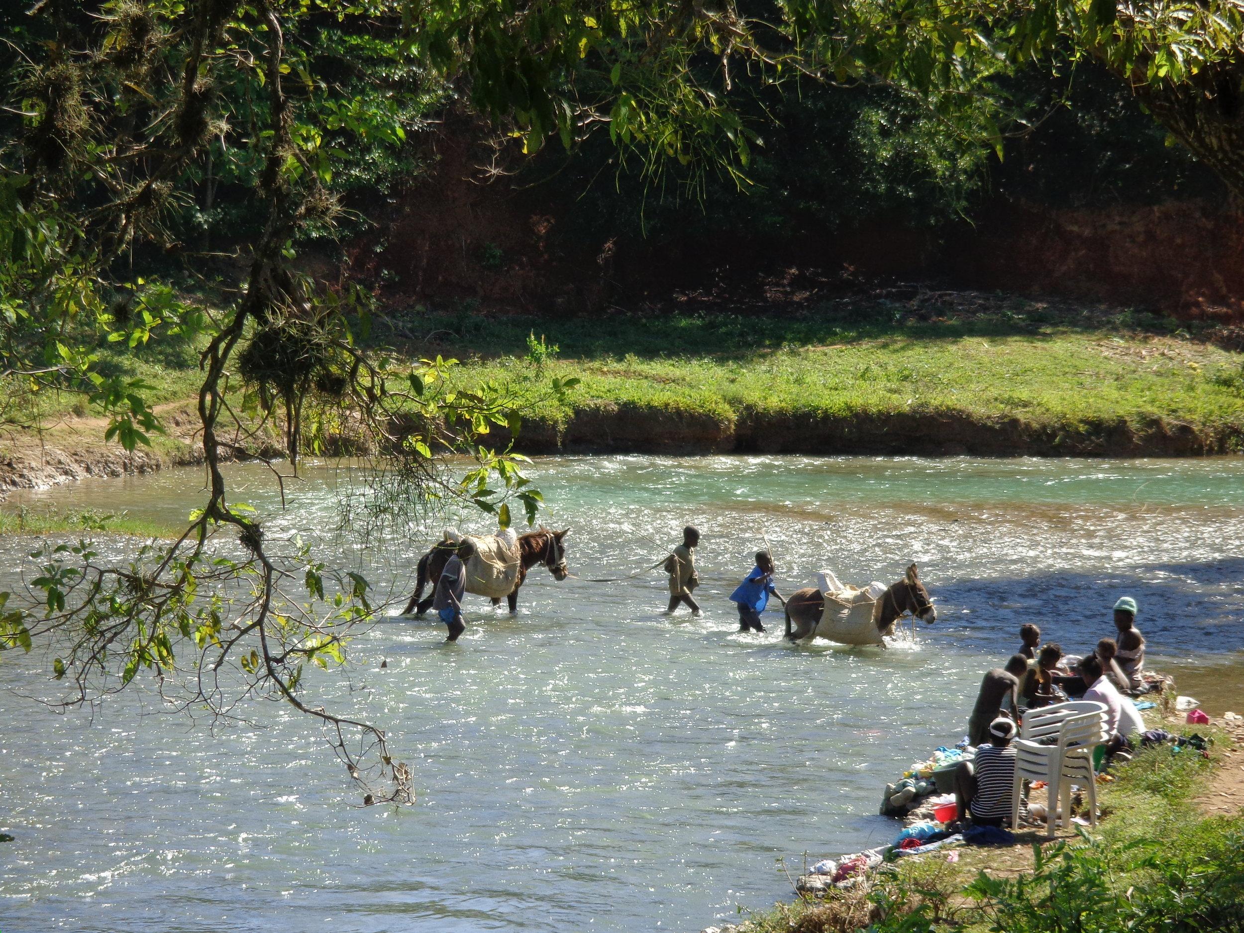 The river crossing near St. Rafael, Haiti.
