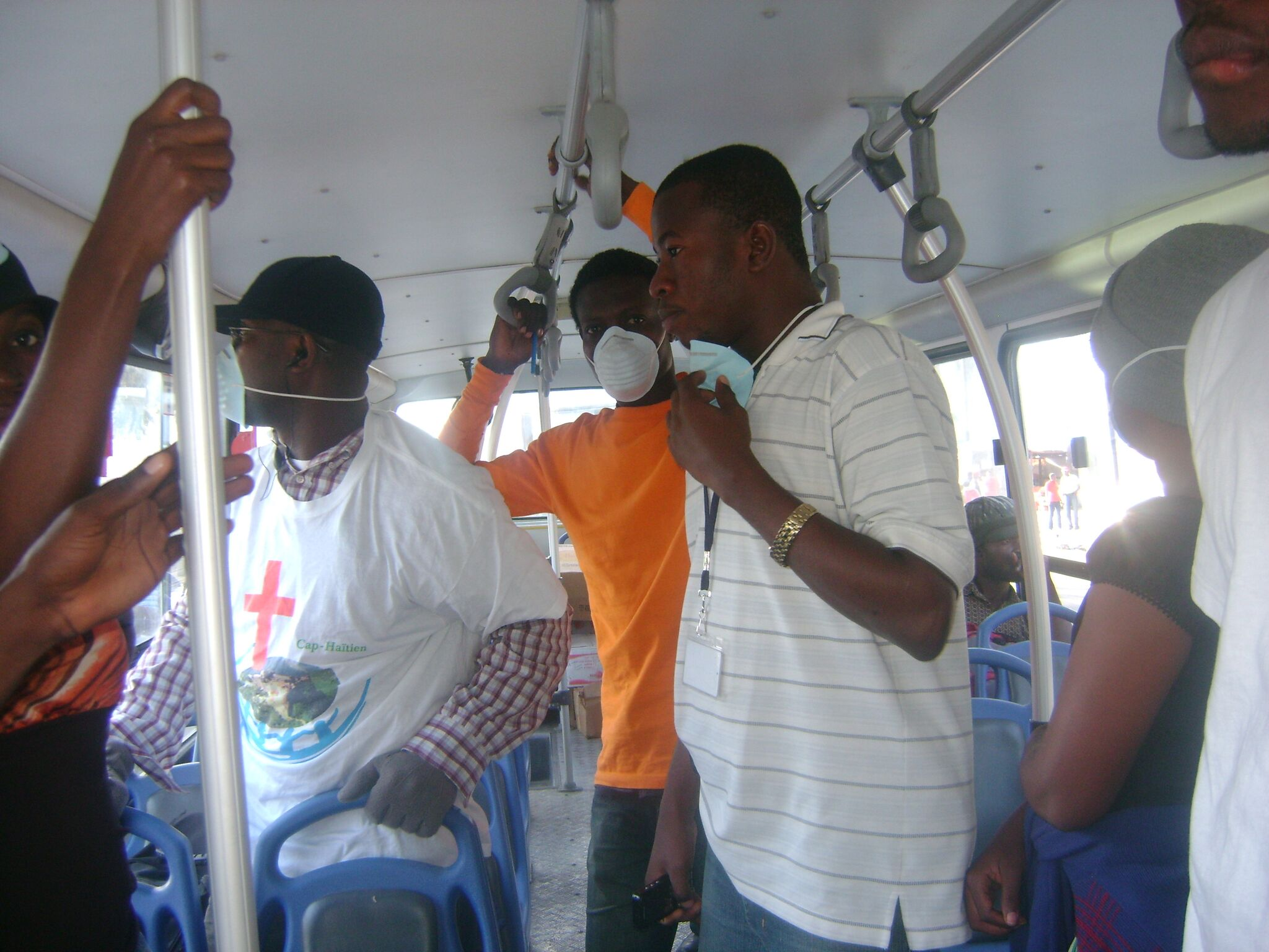 GROW Haiti volunteers participate in post-earthquake emergency response.