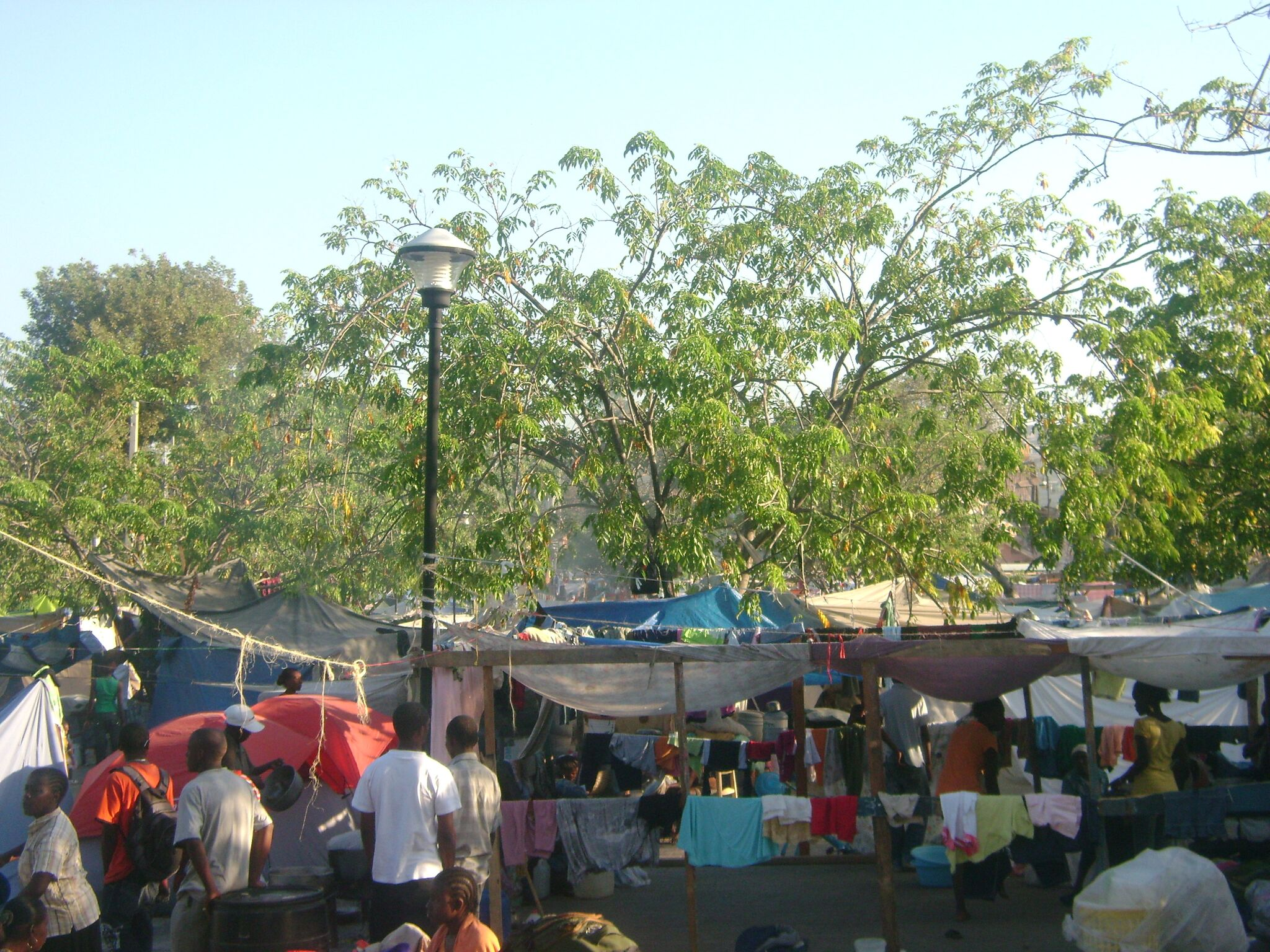 A tent city in Port au Prince, Haiti that was built to temporarily house people displaced by the quake.