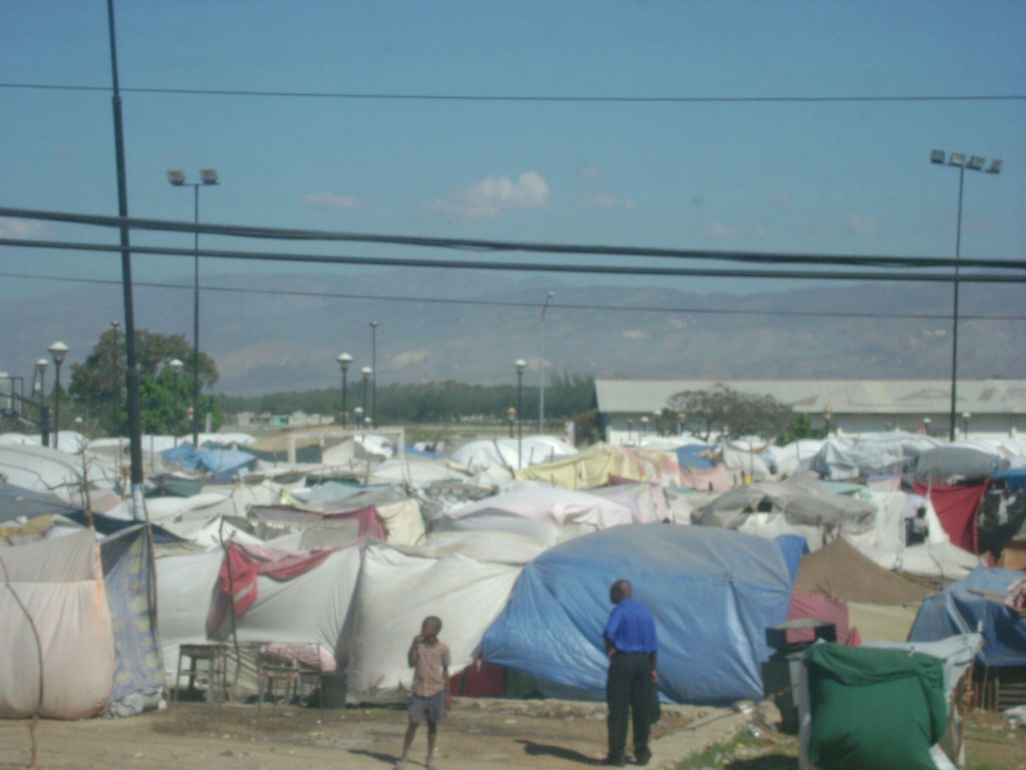 Tent city managed by international NGOs near Port au Prince, Haiti.
