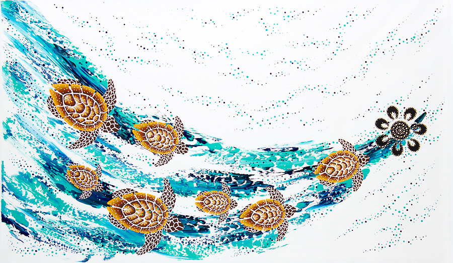 Turtle Increase Song Cycle 90 x 150cm