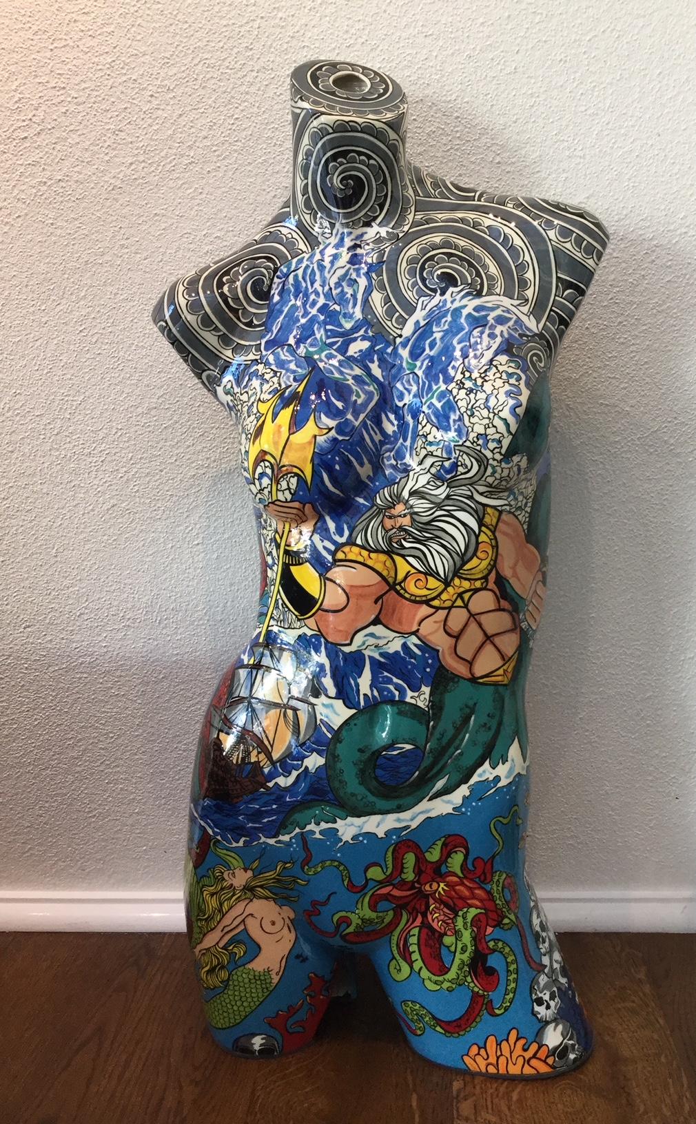 Poseidon Pop art Bust Front