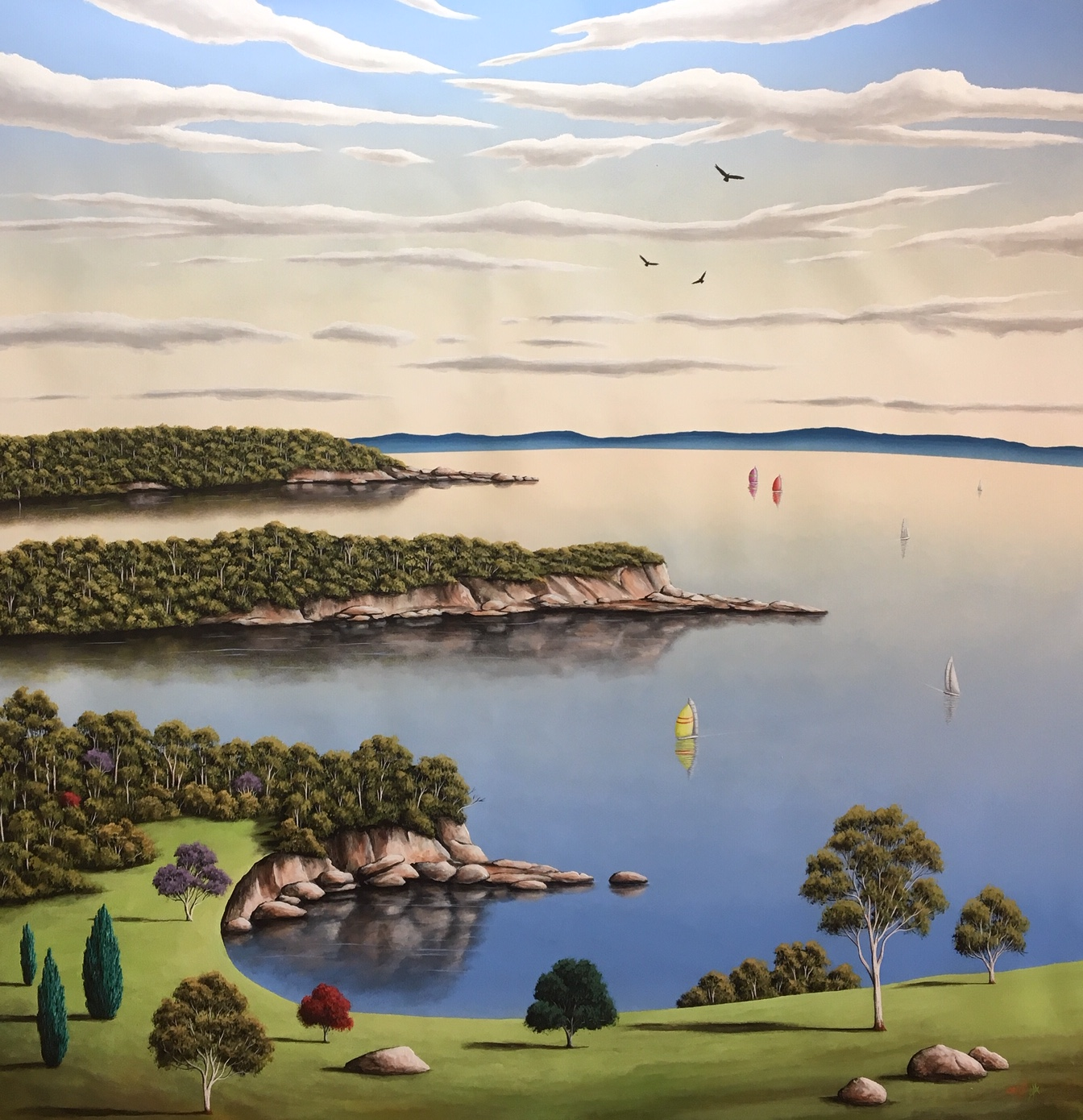 Tranquil Time of Day  157m W x 157cm H