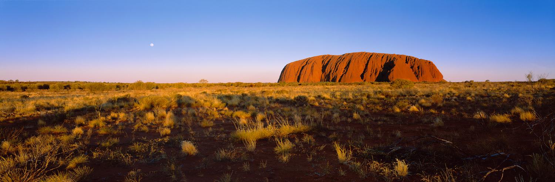 Moon talking to Uluru - 215x90cm