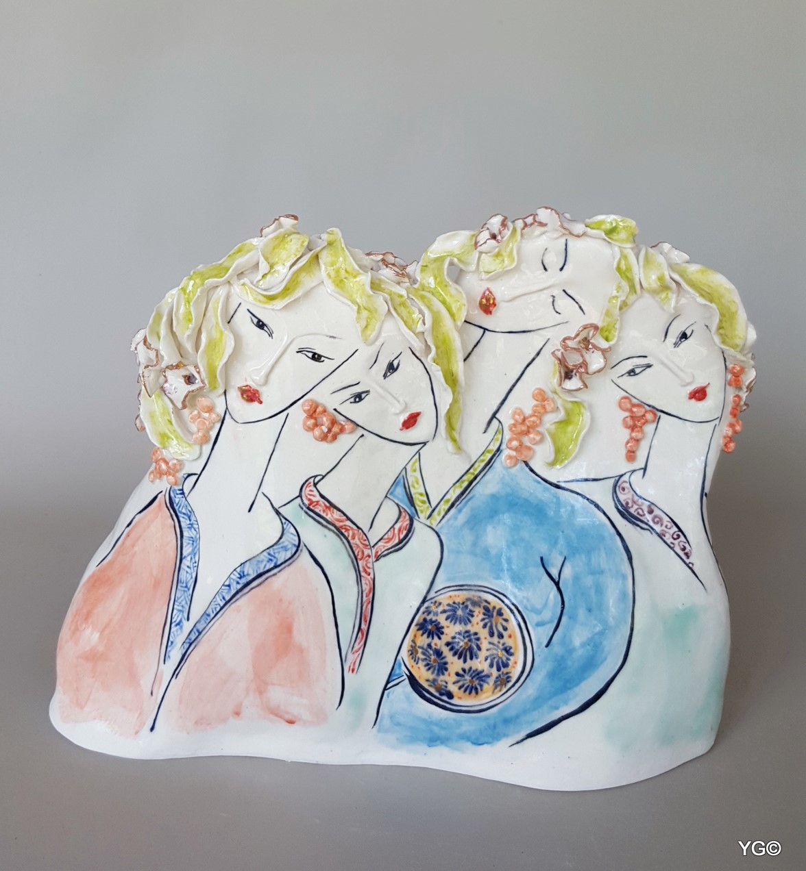 Yeats Gruin _ Beauties in the Eastern Dream- porcelain