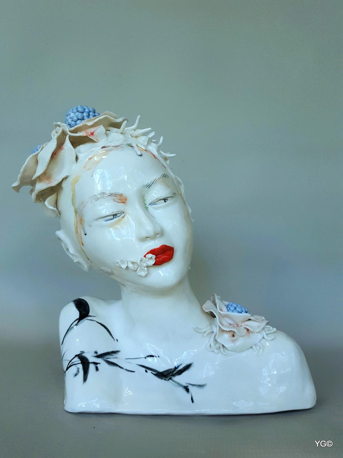 Drunk in Flower Shadows-porcelain