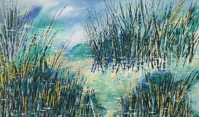 Pond in Summer 2 155 x 95 cm