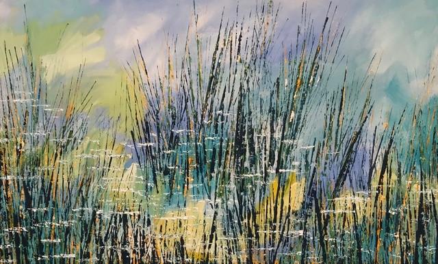 Pond in Summer 1 155 x 95 cm