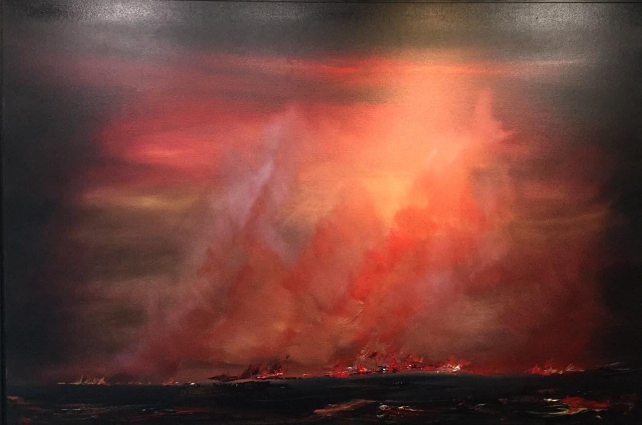 Summer Grass Fires - 150 x 105 cm - Acrylic on Canvas