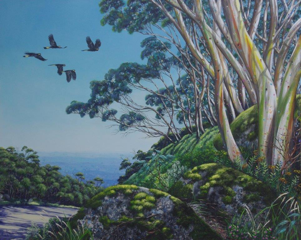 View from the Mountain Mt. Baw Baw 153 x 122cm - SOLD
