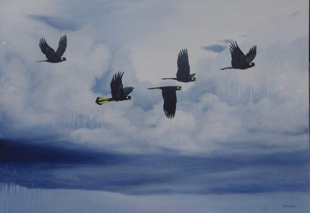 On A Wing and a Prayer 153 x 107cm