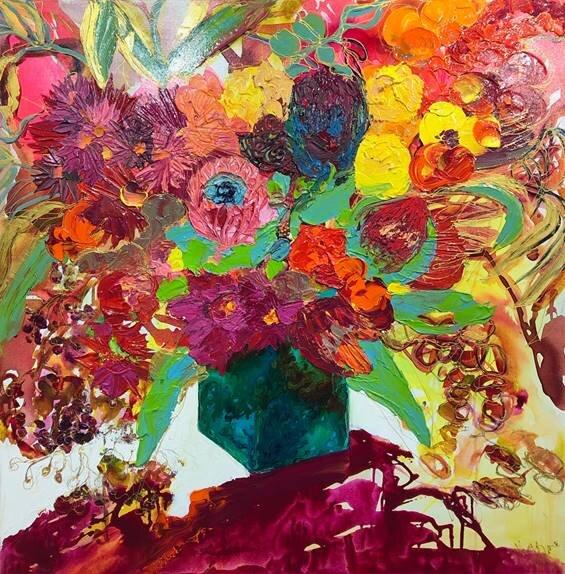 Wildflowers 94 x 94cm